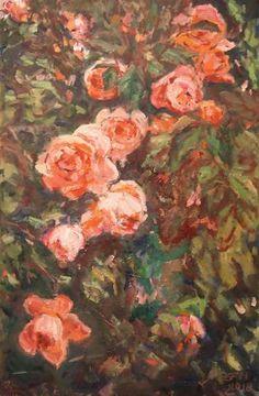 Original Floral Painting by Ellen Fasthuber-huemer Oil On Canvas, Canvas Art, Original Art, Original Paintings, Photorealism, Impressionism Art, Buy Art, Saatchi Art, Painting Flowers