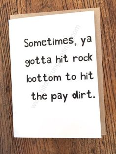Card #493:  Sometimes, ya gotta ...