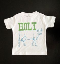 Funny Saying Kids Shirt - Holy Cow - Funny Youth Tshirt - Children's Clothing on Etsy, $16.00