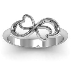 Duo of Hearts Infinity Ring | Jewlr