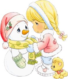Snow Friends ~ Precious Moments. Visual only.