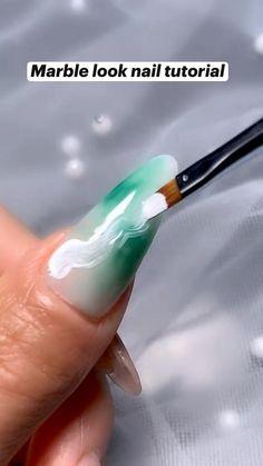 Nail Art Designs Videos, Nail Art Videos, Nail Designs, Diy Acrylic Nails, Diy Gel Nails, Nail Art Hacks, Nail Art Diy, Gel Nail Tutorial, Glow Nails
