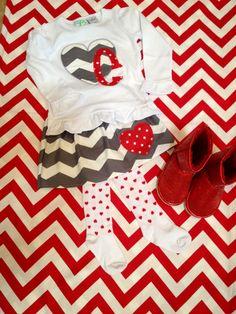Appliquéd Valentine Shirt & Skirt Set by LittleSewShop on Etsy, $40.00