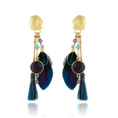 CALIFORNIA EARRINGS FEATHER GO