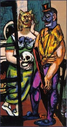 "Max Beckmann ""Masquerade"", 1948 (Germany, Expressionism, 20th cent.)"