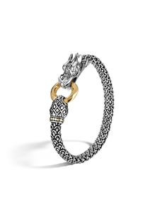 Naga Collection Dragon Bracelet. All in Sterling Silver and 18K Gold #MothersDay #JohnHardy