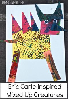 Create animal collages using the same techniques as Eric Carle!  My kids LOVED this!  Great idea from Homegrown Friends.
