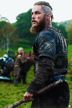 Ragnar Lothbrok - Travis Fimmel in Vikings, set in the 9th century (TV series).