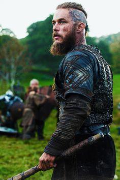 Ragnar Lothbrok - Travis Fimmel in Vikings, set in the 9th century (TV series).