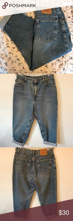 Levi's high waisted vintage jeans Tagged a misses 14 short. I'd say they fit like a size 8, measurements coming soon. Levi's Jeans Ankle & Cropped