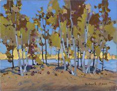 Grove With Yellow Green Robert Genn      Acrylic (11x14 in)