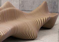 """Купить Параметрическая скамейка """"Мурена"""" из фанеры - дизайн, архитектура, Мебель, мебель ручной работы"""
