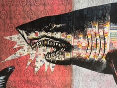 Shark Toof : LA : wheatpastes & paints sharks