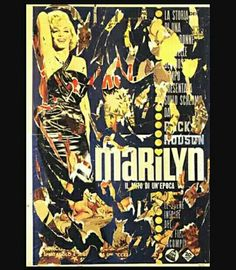 214. Mimmo Rotella, Marylin 1963 m 1,90x1,32 collage Torino Galleria Stein