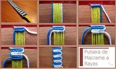 enrHedando: How to make a Macrame Bracelet Stripes