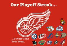 Redwings 24 consecutive years into the playoffs!!
