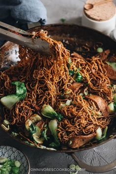 Char Siu Chow Mein (叉烧炒面) Quick Asian Noodle Recipe, Asian Noodle Recipes, Asian Recipes, Yummy Pasta Recipes, Cooking Recipes, Chinese Bbq Pork, Chinese Food, Char Siu, Asian Noodles