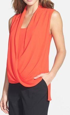 faux wrap shirttail blouse  http://rstyle.me/n/pdcf2pdpe