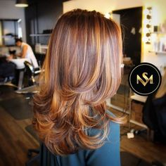 Rich Auburn Balayage. Base colour 6-68 / Highlight colour 9-7 & 9.5-17…