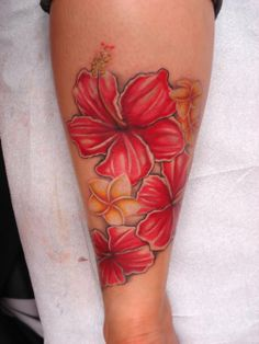Hibiscus tattoo!