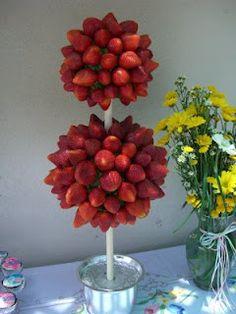 Strawberry topiary tree