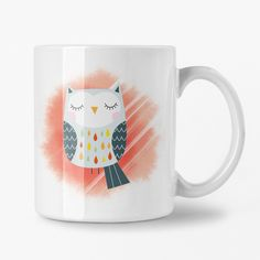 Ceramic Owl Mug, Cute Gift for Young Girl, Owl Lover Gift, Personalized Cup Cute Valentines Day Gifts, Cute Gifts, Unique Gifts, Special Birthday Gifts, Birthday Gifts For Her, Toddler Boy Gifts, Owl Mug, Ceramic Owl, Personalized Cups