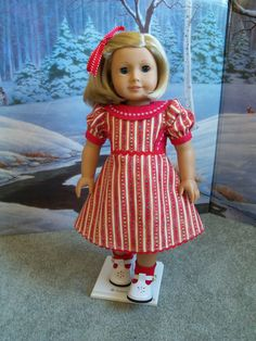 American Girl Christmas Dress / Clothes for American Girl  Doll. $37.00, via Etsy.