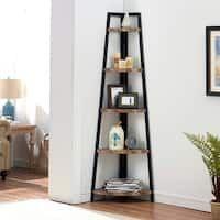 Corner Bookshelves, Bookcase Shelves, Ladder Bookcase, Corner Shelves Living Room, Small Bookshelf, Wood Ladder, Room Corner, Rope Shelves, Small Shelves