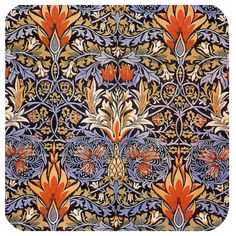 These Neoprene coasters are not only super absorbent but also so pretty. The coaster are all printed in our studio at Golden Hill. William Morris Patterns, William Morris Art, Pattern Wallpaper, Wallpaper Designs, Designer Wallpaper, Pattern Art, Pattern Design, Print Patterns, Art Deco Tiles