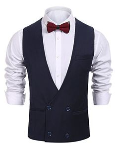 de0931e741e51 Buy Men s Double-Breasted Jacket Business Dress Suit Vest Patchwork  Waistcoat - Dark Blue - and Others Best Selling Men s Sport Coats with  Affordable Prices