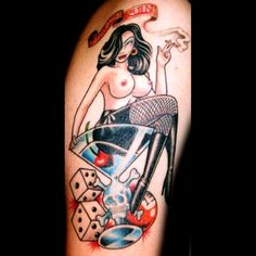 Tattoos by Captain Bret & Celtic Tattoo. All styles of Custom Tattoos. Pin Up Girl Tattoo, Pin Up Tattoos, Girl Tattoos, Mens Tattoos, Tatoos, Sexy Tattoos For Women, Tattoos For Guys, Traditional Tattoo Prints, Old Style Tattoos