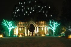 The lights of the White Garden constantly dazzle during Holidays at the Garden 2014 at Daniel Stowe Botanical Garden.