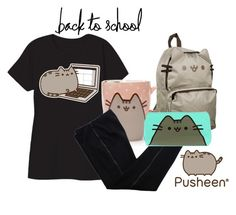 """""""#PVxPusheen"""" by ariannapeach ❤ liked on Polyvore featuring Pusheen, COSTUME NATIONAL, contestentry and PVxPusheen"""