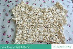 White Lace Dress Photo Tutorial + Diagrams | Beautiful Crochet Stuff