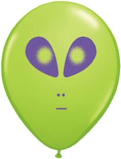 """11"""" Green Alien Latex Balloon - 25pk"""