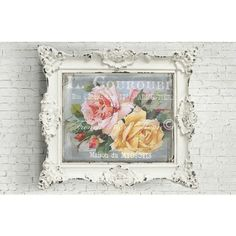 Shabby Chic Digital Roses, French Rose Download, French Rose Collage... (€3,73) via Polyvore featuring home, home decor e rose home decor
