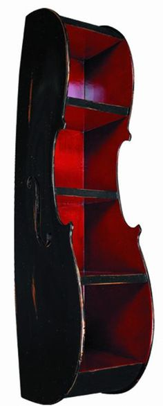 Cello bookcase-this would be great to store my cello music in!  Make mine blue inside!