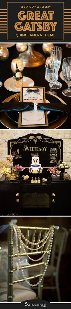 From your hairstyle to the cake, don't miss the following ideas to throw an elegant and classic The Great Gatsby quinceanera that your guests will never forget!