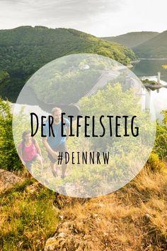 Wandern auf dem Eifelsteig im Nationalpark Eifel in Deinem NRW: Hier geht es auf 300 Kilometern naturbelassener Wege zu Stauseen, in Täler und auf Hochebenen. #deinnrw ©️️ Eifel Tourismus GmbH / Dominik Ketz