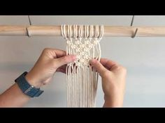 Macrame For Beginners: 28 Days of Knots! Day Square Knot Patterns : Macrame For Beginners: 28 Days of Knots! Macrame Wall Hanging Patterns, Macrame Patterns, Macrame Curtain, Macrame Cord, Macrame Design, Macrame Projects, Macrame Tutorial, 28 Days, Knots