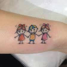 Resultado de imagem para tatuagem menino e menina palito