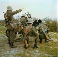 Yugoslav People's Army air defense crewman on exercise.
