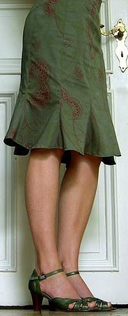 Modelos de faldas pegadas con patrones
