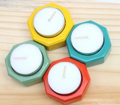 Brighten up your homes this #festive season with these smart and #colorful #wooden #tealight #candle holders.  #christmas  #decor  http://qoo.ly/775pk/0