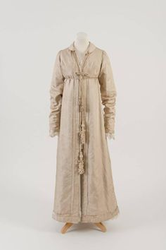 Light brown silk pelisse worn by Lady Byron (Arabella Millbanke) on her wedding day in 1815