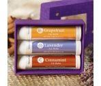 ahhh...all natural lip love  Cinnamint Lip Balm, refreshing Grapefruit Lip Balm, and soothing Lavender Lip Balm