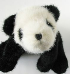 "Boyds Bears Plush Panda 15"" Head Bean Collection Heirloom Series Mr Eaton Bamboo"