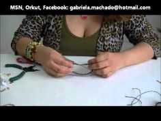 AnaGGabriela - Vídeo Aula 15 - Pulseira macramê com dois fios de strass e cordão encerado