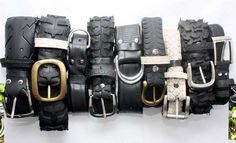 recycled tires into very cool belts