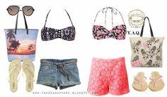 Y. A. Q. - Blog de moda, inspiración y tendencias: [Y ahora qué me pongo en] La playa sin usar bikini Victoria Beckham, Bikini, Swimsuits, Shorts, Polyvore, Image, Blog, Google, Fashion